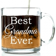 Best Grandma Ever Glass Coffee Mug